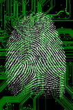 Digital fingerprint Stock Photography