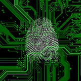Digital fingerprint Royalty Free Stock Photography
