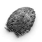 Digital fingerprint for authentication. 3d fingerprint representation for authentication or recognition Royalty Free Stock Images