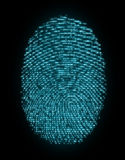 Digital fingerprint Royalty Free Stock Photos