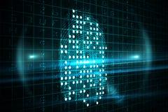 Digital fingerprint Royalty Free Stock Images
