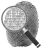 The digital fingerprint Stock Image