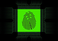 Digital Fingerprint scanner; Identification system; Cyber security concept Stock Photography