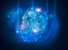 Digital fingerprint. Symbol secure computer access Stock Image