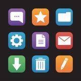 Digital flat design icons set Royalty Free Stock Photo