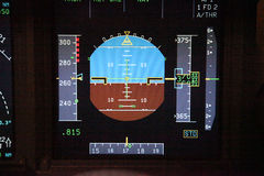 Digital flight instruments Royalty Free Stock Photography