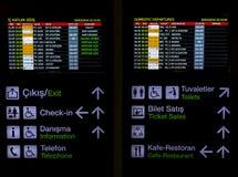 Digital Flight Schedule Board Stock Photography