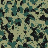 Digital flora seamless camo. Pattern Stock Images
