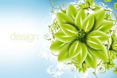 Digital Floral Design Stock Photo