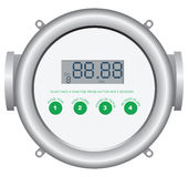 Digital Flow Meter Royalty Free Stock Photos