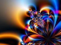 Digital flower. Computer generated image, digital flower royalty free illustration