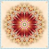 Flower Petals Kaleidoscope. Digital Flower Petals Fractal Kaleidoscope Pattern Stock Images