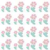Digital flowers paper Royalty Free Stock Photo