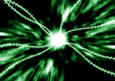 Digital Flux Green. Abstract background depicting energy flow on digital datalines Royalty Free Stock Photography