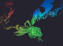Digital, fond créatif de conception, styles de fractale avec la couleur d illustration de vecteur