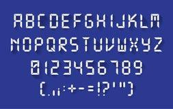 Digital font in a flat design Stock Images