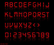 Digital Font Illustration Royalty Free Stock Photography