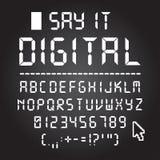 Digital font Stock Image