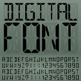 Digital Font Royalty Free Stock Photography