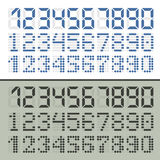 Digital font numbers Royalty Free Stock Images
