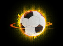 Digital football flare. Ball of fire zones by fire in digital form Royalty Free Stock Image