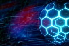 Digital fotbollboll stock illustrationer