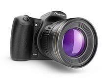 Digital-Fotokamera. Ikone 3D getrennt Lizenzfreie Stockfotografie