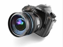 Digital fotokamera på vit bakgrund. Royaltyfri Bild
