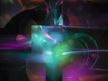 Digital Fractal, dynamisk rörelse för abstrakt brännhett vetenskapskaos för rörelse, bakgrund för parti för tapetfärgfantasi, kor royaltyfri illustrationer