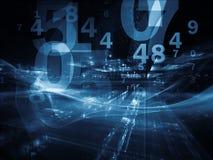 Digital Fractal Realms Stock Image