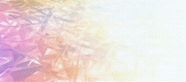 Digital Fragments. Colorful Fragments on Digital Grid royalty free stock photo
