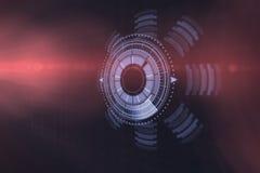 Digital frambragd bild av den upplysta volymknoppen 3d Royaltyfri Foto