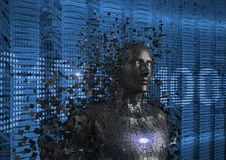 Digital frambragd bild av människan 3d Royaltyfri Fotografi