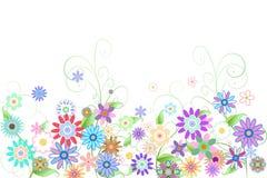 Digital frambragd flickaktigt blom- design Royaltyfria Foton