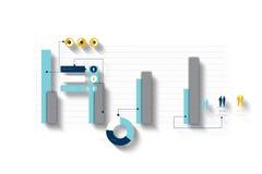 Digital frambragd infographic grå färg- och blåttaffär Fotografering för Bildbyråer