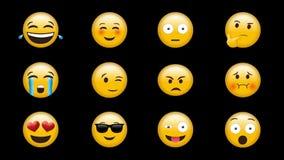 Digital frambragd video av emojien stock illustrationer