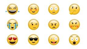 Digital frambragd video av emojien royaltyfri illustrationer