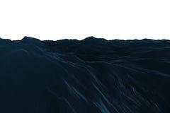Digital frambragt hav för diagrambuseblått vektor illustrationer