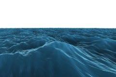 Digital frambragt hav för diagrambuseblått stock illustrationer