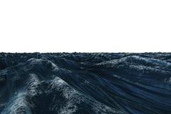 Digital frambragt hav för diagrambuseblått royaltyfri illustrationer
