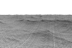 Digital frambragt landskap för binär kod Arkivfoto