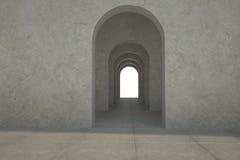 Digital frambragt rum med dörröppningar vektor illustrationer