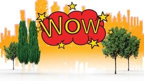 Digital frambragte videoen av ordet överraskar