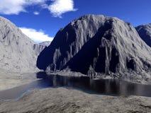 Digital framför av landskap Arkivbild