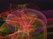 Digital framför den abstrakta fractalen som är idérik eteriskt räkningssken, vibrerande magiskt dekorativt som är elegant stock illustrationer