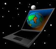 digital framtid stock illustrationer
