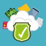 Digital fraud and hacking design. Vector illustration Stock Photo