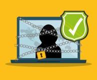Digital fraud and hacking design. Vector illustration Stock Images