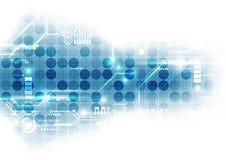 Digital futurista da tecnologia placa de circuito da tecnologia chipset da tecnologia abstraia o fundo Vetor ilustração do vetor