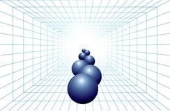 Digital futuristic blue background Stock Image